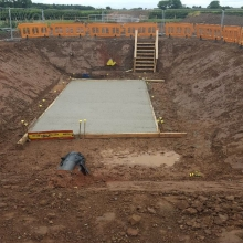 Construction of JB and installation of RC slab