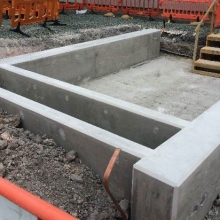 PRR foundation & integrated cable trench
