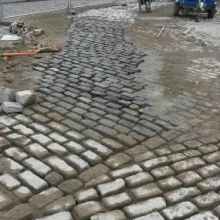 Reinstated cobbled Sq.
