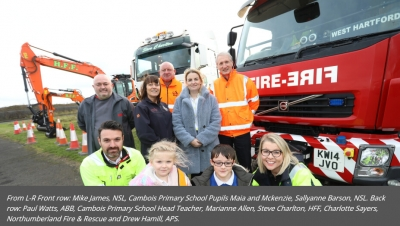 Approved Power Services & Northumberland Primary School celebrates National Road Safety Week with North Sea Link